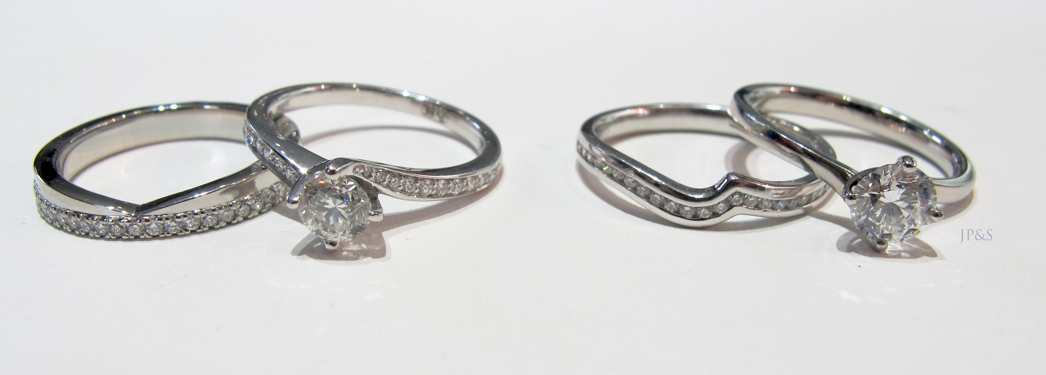 elegant but wedding rings more modern pin the a stacked double love way idea done medieval in