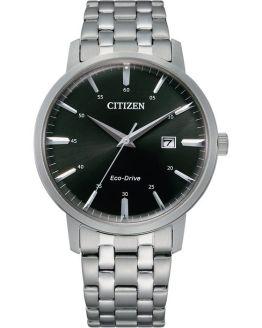 Citizen Eco-Drive Mens Black Dial Bracelet Watch  BM7460-88E