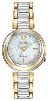 Citizen Ladies Eco-Drive Diamond Two Tone Bracelet EM0337-56D
